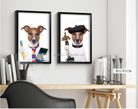 Home decoration cartoon wall cloth dog oil painting