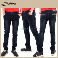 Latest style fashion china wholesale cheap oem jeans slim fit straight skinny jeans denim jeans trousers for men
