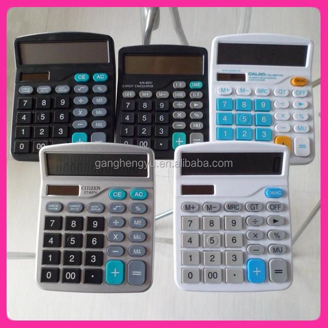12 Digits promotional gift calculator for office desktop calculator