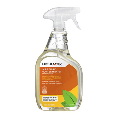 Highmark Air & Fabric Odor Eliminator, Lemon Scent, 32 Oz, Case Of 12