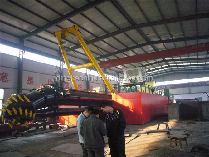 DINGKE Professional china 18 inch hydraulic cutter suction dredger vessels