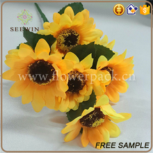 cheap wholesale fabric plastic sun flower artificial flower parts