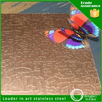 Alibaba express 201 304 bronze finish stainless steel sheet for decoration