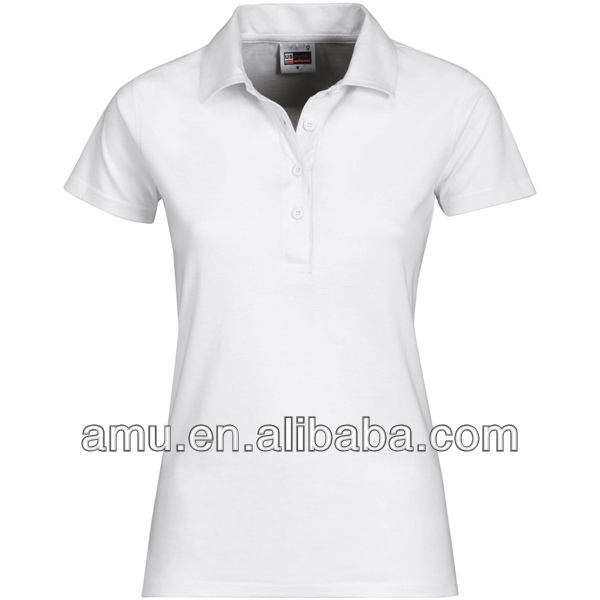 2016 Newest wholesale plain white women polo design hot sale fashion women polo