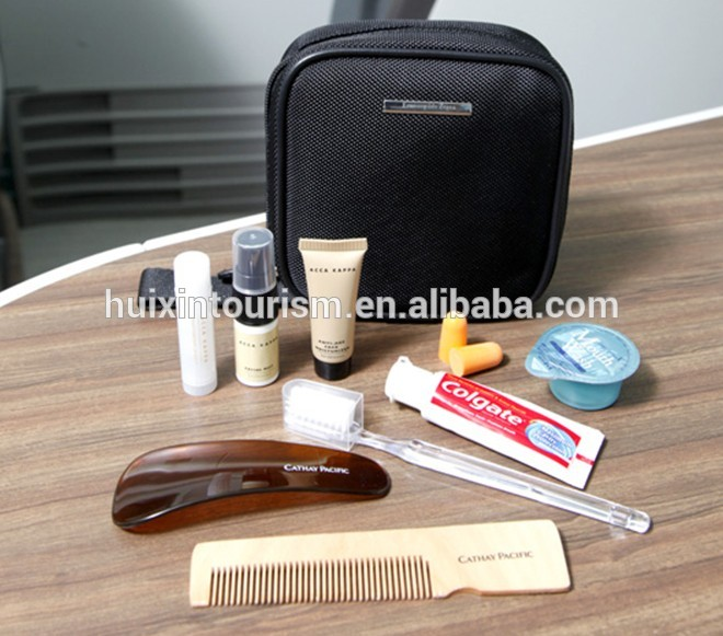 Luxury airplane travel kit with oxford bag
