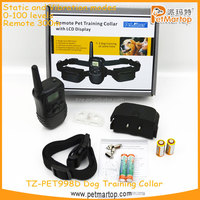 hot selling remote control dog training collar TZ-PET998D Dog training collar