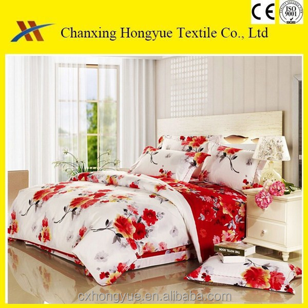 flower design 100%polyester pigment printed fabric for home textile/high quality