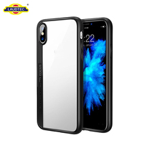 For Iphone X Luxury Mobile Phone Case, Slim TPU+PC HD Transparent Protective Back Cover For Iphone X