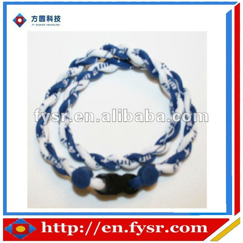 3 ropes braided fashionable Negative ion Sport germanium power necklace and bracelet