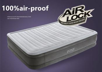 Intex inflatable bed outdoor portable air - cushion bed home three - tier double inflatable mattress folding double air bed
