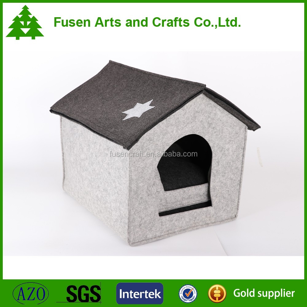 Collapsible decorative pet indoor houses for dog