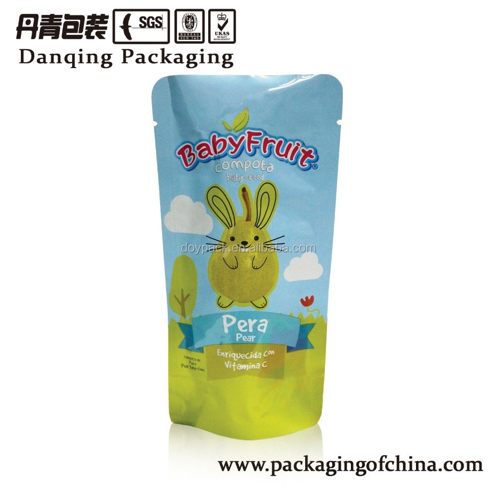 Baby Food Stand up Pouch, Dry Fruit Packaging Bags,Doypack for Baby Snack D0233