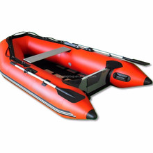 CE certificate 0.9mm thickness pvc aluminum floor inflatable boat 270