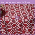 MY0017G red popular wholesale wedding Groovy satin printed tablecloth