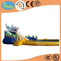 Latest fashion selling exciting inflatable water park in yard