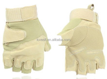 LOVESLF Leather Gloves high quality half finger leather gloves Cotton Glove for <strong>Safety</strong>