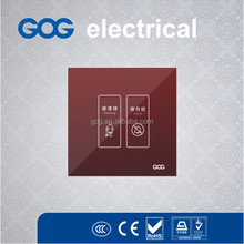 Glass panel smart hotel switch DND&cleaing switch