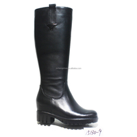 Genuine leather long high shell over the knee boots for women