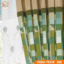 Safety New Design Window Cotton Fabric Curtain for Living Room