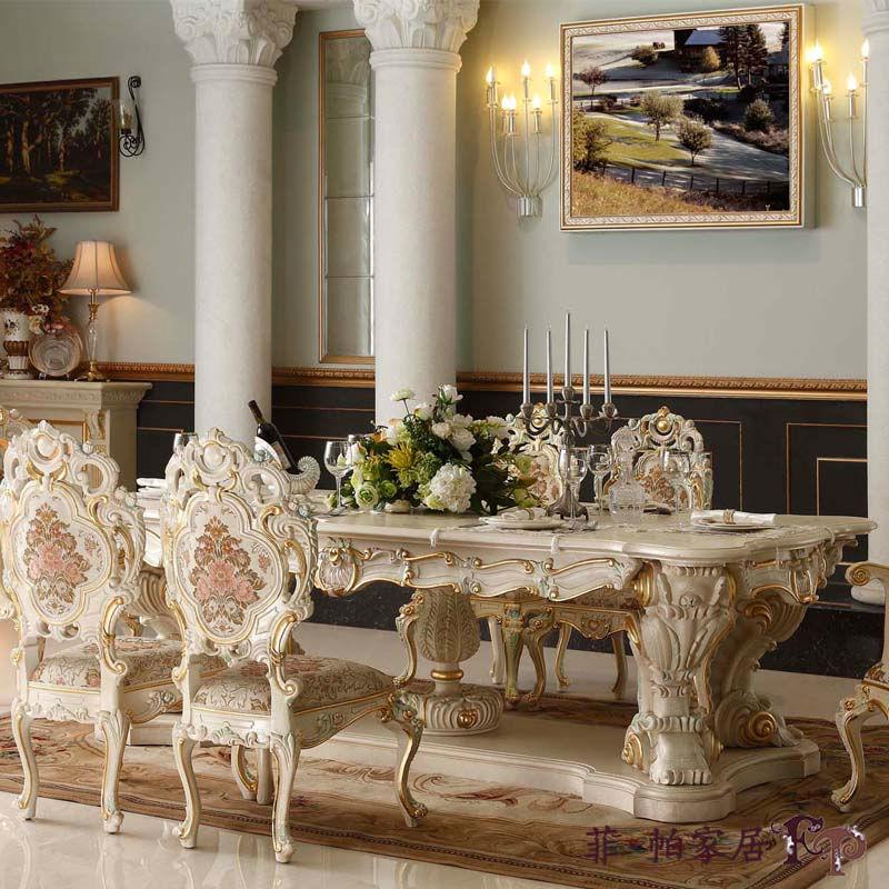 Final de madera ejecutivo de comedor muebles antiguos europeo ...