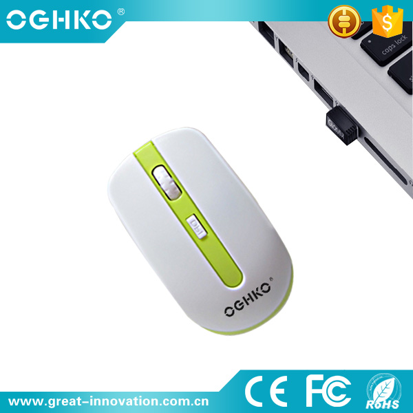 New design 2.4g optical wireless mouse with usb receiver