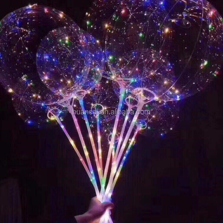 "18"" 3 meter LED Light string led transparent bobo balloon"