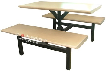 MDF Material Canteen Furniture Dining Table and Chair Set