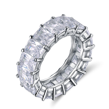 RINNTIN OR146 Cubic Zirconia Diamond Eternity <strong>Ring</strong> For Women Jewelry