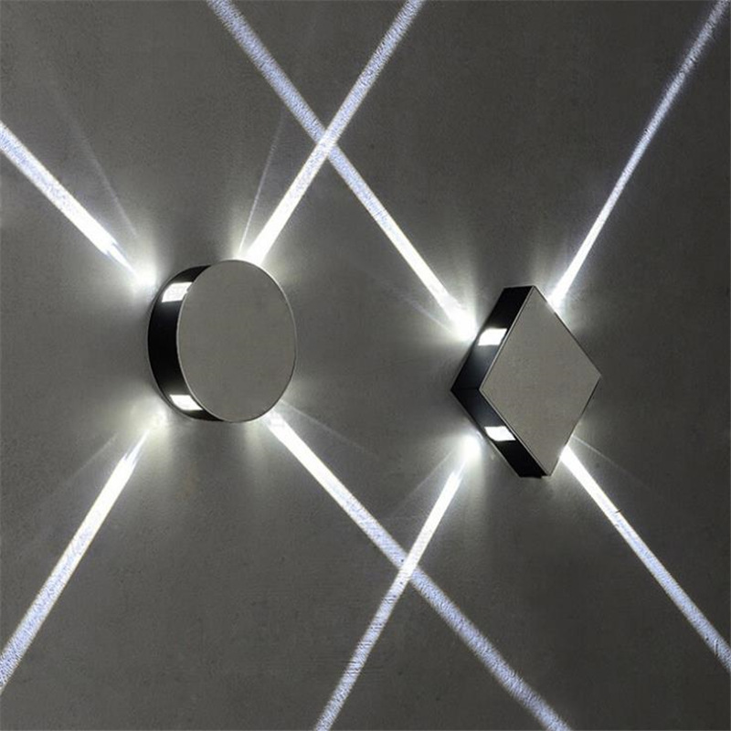Modern decoration minimalist creative LED square /round led wall lamp for KTV background