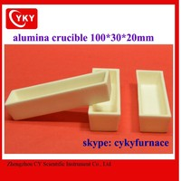 high temperature melting ceramic crucibles / aluminum melting boat crucible