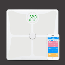 2017 new Fashion weighing scale wifi smart body fat scale with private label printing barcode printing
