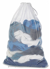 heavy duty nylon/polyester laundry mesh bag with drawstring closure,gift bag