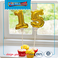 Self Inflating Balloons Birthday Number Balloon