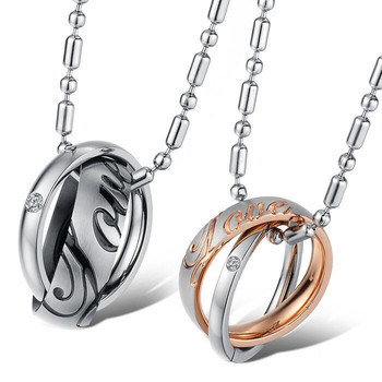 Accessories Wholesale Fashion Lovers' Bicyclic Chain Women's/men's 316LStainless Steel Necklace&pendants GX730