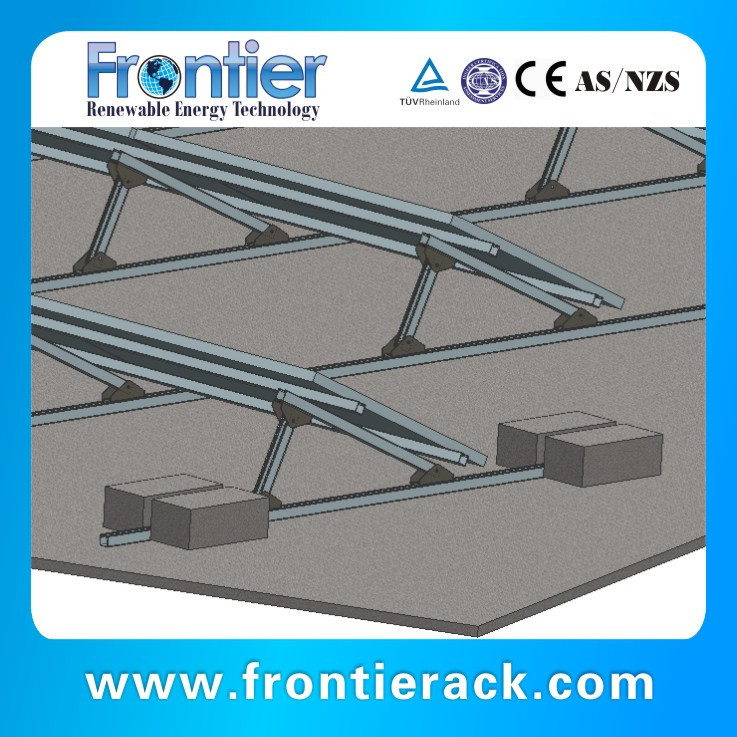 ballast racking system of flat roof