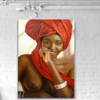 abstract african women oil painting