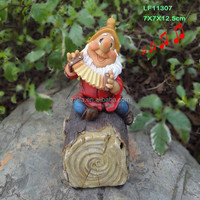 resin sensor 7 gnome for tree decoration