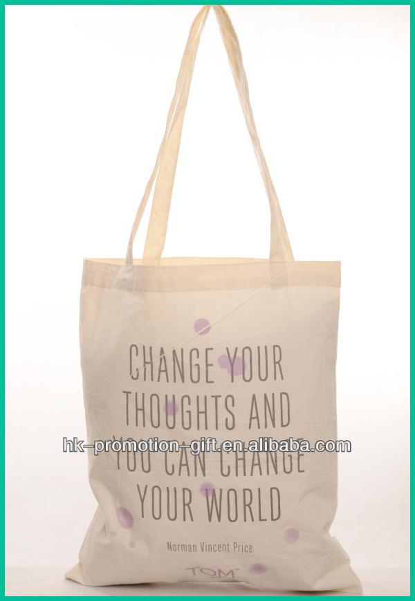 2014 Reusable Design Standard Size Cotton Tote Bag - Buy Standard ...