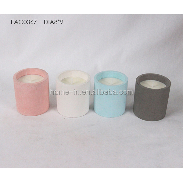 frosted Christmas Multi color candle jar for wholesale