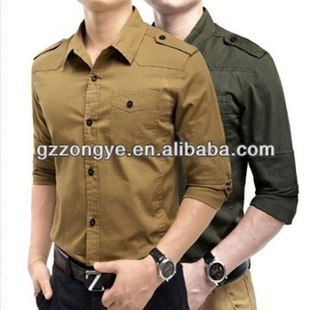 Business casual long-sleeved shirt Slim cotton men's shirts