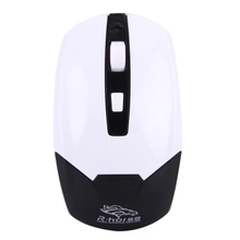 R.horse RF-6330 2.4G USB Receiver 4 Buttons 3200DPI Wireless Optical Computer Gaming Mouse(Black)