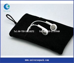 Bead Buckle Closure Hot Sale Made In China Velvet Mobile Pouch For Export