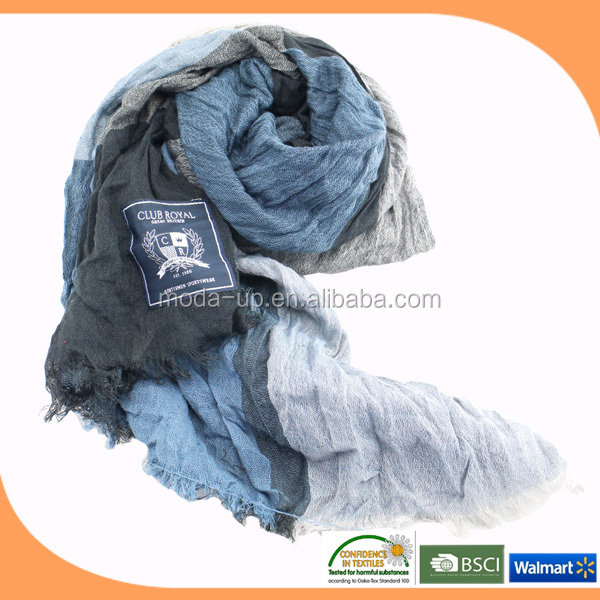 Fashion scarf woven cotton voile scarf shawl for lady