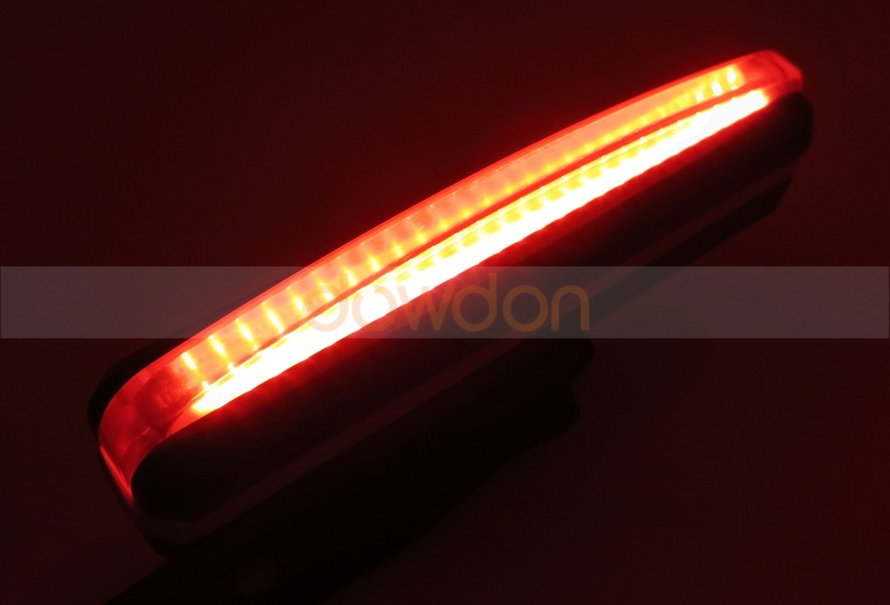 150LM Red White LED Bicycle Headlamp 5 Mode USB Rechargeable Cob Bike Tail light