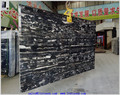 Natural marble chinese stone black with white veins black marble tile