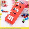 3D Cute Cartoon M&M Jelly Bean Chocolate Silicone Cover Case For iphone 5 5s