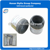 Surface diamond core drill bit with nature diamond
