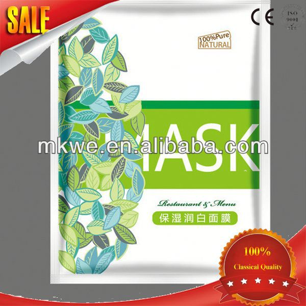 photo print plastic bags for facial mask