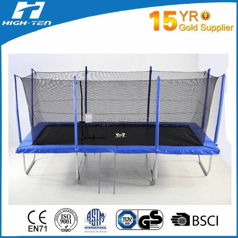10x17ft Rectangle trampoline with Safety Nets Enclosure