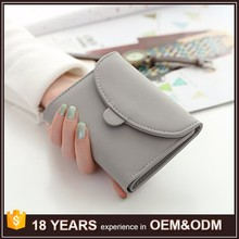 New Arrival Three Fold Clutch Purse Soft Pu Leather Smart Ladies Wallets